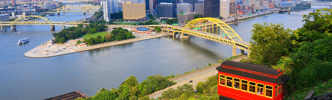 Downtown Pittsburgh with River View